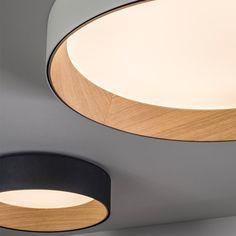 Vibia plafondlamp Duo 4870. door Ramos & Bassols Ceiling Lamp, Ceiling Lights, Living Room Kitchen, Light Up, Toilet, New Homes, Minimalist, Kawaii, Doors