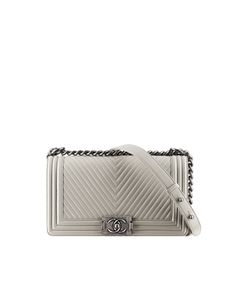 799b612f752cd0 Calfskin Boy CHANEL flap bag with... - CHANEL Chanel Handbags, Luxury  Handbags