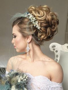 Long wedding hairstyles and wedding updos from Websalon Weddings / http://www.deerpearlflowers.com/websalon-weddings-wedding-hairstyles-and-updos/3/