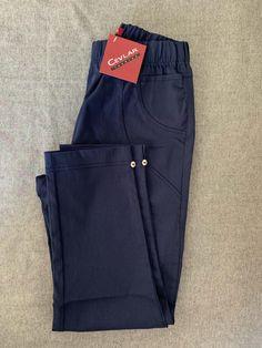 Spodnie z bengaliny Cevlar B08 kolor granatowy - Big Sister