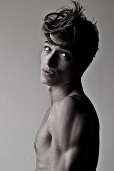 Photographer: Fran Cresswell Model: Samuele Doveri  Beautiful Italian male model. Black and white photography