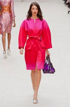 Red and pink, Défilé Burberry Prorsum Printemps-été 2013