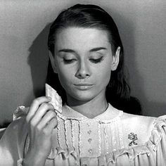 When I was a child I would prepare crackers and milk before watching Roman Holiday. I would then eat them exactly when Audrey ate her royal crackers and milk :) I loved Audrey Hepburn and being a princess.