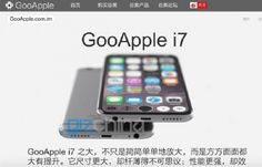 GooApple i7 Merges Google's Android OS and Apple's iPhone Designs – Everyone is excited about what the upcoming iPhone 7 model will be like. Meanwhile, Chinese clone maker