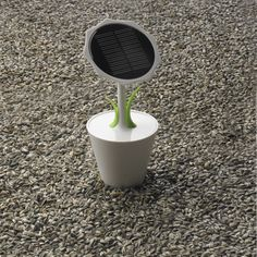 XD Design #Solar #Charger 'Sunflower' - Solar charging devices are a great way to keep your gadgets fully juiced for free. The XD Design Solar Sunflower is a fun alternative that will look right at home in your… home. It's shaped like a flowerpot, with the solar cell as the flower. There is a 2500 mAh rechargeable lithium battery built into the pot and on the base is a USB port that you can use to charge your USB enabled devices.