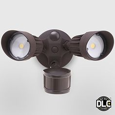 Outdoor Décor-20W DualHead Motion Activated LED Outdoor Security Light Photo Sensor 3 Modes DLClisted 120W Halogen Equiv 5000K Daylight 1600Lm Floodlight Entryways Porch Bronze -- Want to know more, click on the image.