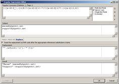 Descargar gratis Regular Expression Editor : Un editor de expresiones regulares que permite comprobar la correción de las expresiones creadas. | Banana-Soft.com