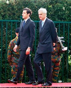 Prince Jean-Christophe Napoleon Bonaparte (L) arrives for the Belgian federal government ceremony to commemorate the bicentenary of the Battle of Waterloo on June 2015 in Waterloo, Belgium. Waterloo Belgium, Spanish Royalty, Battle Of Waterloo, French Revolution, Royal House, Royal Families, The Past, Prince, France