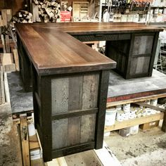 Reclaimed Industrial L-shaped Desk
