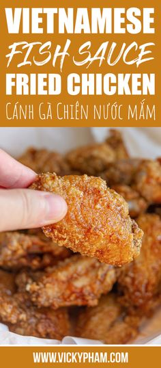 Vietnamese Fish Sauce Chicken Wings (Ga Chien Nuoc Mam) How to Make Vietnamese Fish Sauce Fried Chicken Wings (Ga Chien Nuoc Mam) Vietnamese Fish, Vietnamese Recipes, Vietnamese Restaurant, Vietnamese Chicken Wing Recipe, Chicken Wing Sauces, Garlic Chicken Wings, Recipes With Fish Sauce, Fried Chicken Recipes, Seafood Recipes