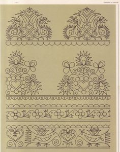 Tambour Embroidery, Hungarian Embroidery, Embroidery Motifs, Floral Embroidery, Cross Stitch Embroidery, Cross Stitch Patterns, Machine Embroidery, Embroidery Designs, Stitch Book