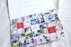Love this grid Christmas card template. For next year? #christmas #card