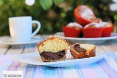 Muffins mit Nutella Kern