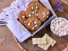 Receta | Cookies con chips de chocolate blanco y nubes - canalcocina.es