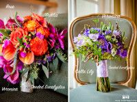 Colorful flower bouquets using veronica flowers
