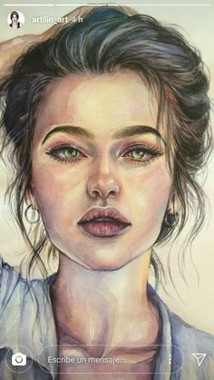 art beauty ღ în 2019 portrete pictate, portrete și a L'art Du Portrait, Pencil Portrait, Pencil Art Drawings, Art Drawings Sketches, Watercolor Portraits, Watercolor Paintings, Painting Art, Watercolor Portrait Tutorial, Watercolour