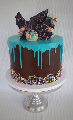 Chocolate Turquoise Drip Cake | Skye's Delights | Flickr