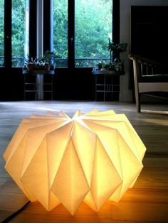 origami lampenschirme ideen DIY licht bodenlampe