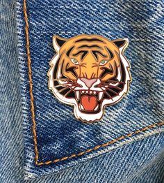 Tiger Pin, Hard Enamel Pin, Gift, Jewelry, Art (PIN25)