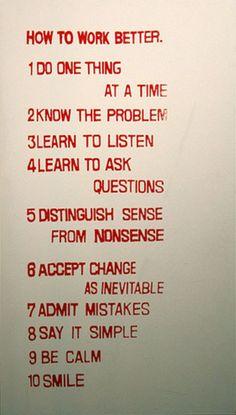 Fischli & Weiss, 'How to work better' (1991)