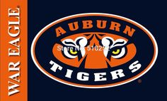 Auburn Tigers WAREAGLE Flag 3x5 FT 150X90CM NCAA Banner 100D Polyester Custom flag603, free shipping