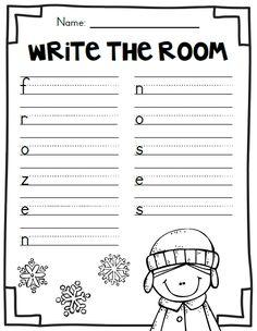 First Grade Garden: Freebies 1st Grade Writing, First Grade Reading, First Grade Classroom, Kindergarten Writing, Classroom Fun, Teaching Writing, Student Teaching, Writing Activities, Winter Activities