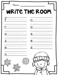 First Grade Garden: Freebies 1st Grade Writing, First Grade Reading, First Grade Classroom, Kindergarten Literacy, Classroom Fun, Teaching Writing, Student Teaching, Writing Activities, Winter Activities
