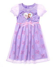 Purple Frozen Elsa & Anna Dressy Nightgown - Toddler & Girls by Frozen #zulily #zulilyfinds
