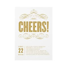 CHEERS! | HOLIDAY PARTY INVITATION by FINEandDANDY