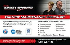 Create a yellow page advertisement for a reputable automotive repair business by pxlpusher