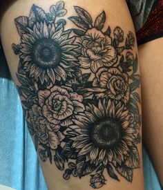 """Fun thigh piece from today!"""