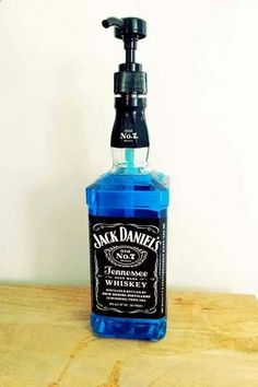 Haha changing a bittle of jack to a soap despenser!