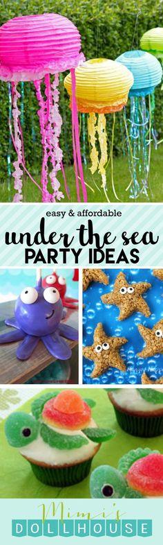 Mermaid birthday party ideas // Under the Sea Party: Fishy Fun with Ocean Party Ideas