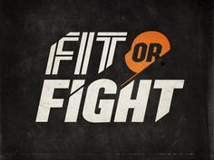 Fit or Fight reverse logo  by Tim Sullentrup