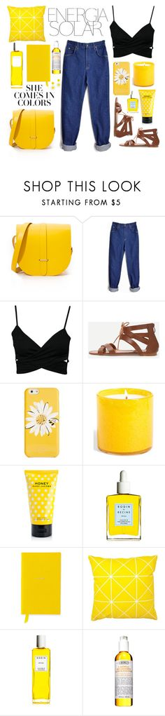 """""""Solar"""" by ncorrea12 ❤ liked on Polyvore featuring The Cambridge Satchel Company, Magdalena, Lee, Kate Spade, LAFCO, Marc Jacobs, Rodin, Smythson and Kiehl's"""