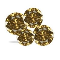 100 Stück Champagnerfarbene Diamanten SI1-SI2 /0.50 Karat