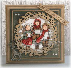 Cardville- Cards by Elizabeth: GDT Ett Trykk: Christmas Card