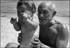 Picasso and his son Claude.