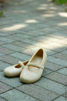 """Купить """"Медовый мрамор"""" валяные тапочки-балетки - бежевый, Медовый, мраморный, балетки, валяные тапочки"""