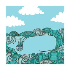 Whale 12x12 by jenskelley on Etsy, $30.00