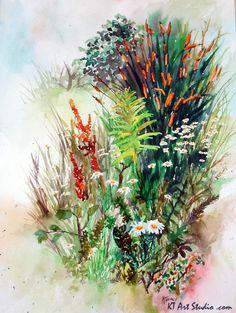 Watercolor by Katie Turner www.KTArtStudio.com KatieTurnerArtBlog.wordpress.com