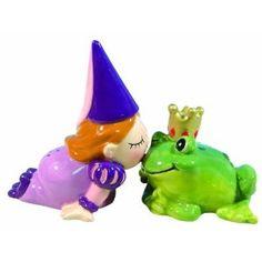 Salt and pepper.  Princess kissing a frog prince