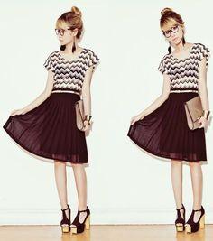 Pleated Vintage Skirts.
