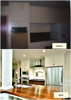 Kitchen before and after post, with a helpful guide for planning a kitchen remodel!