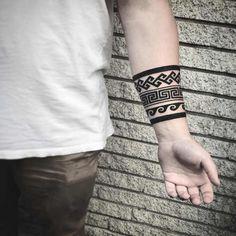 Band Tattoos For Men, Tribal Band Tattoo, Wrist Band Tattoo, Armband Tattoos, Forearm Band Tattoos, Tribal Arm Tattoos, Knot Tattoo, Small Tattoos For Guys, Mom Tattoos