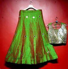Mirror Work Blouse, Woman Clothing, Lehenga, Blouse Designs, Ethnic, Blouses, Women's Fashion, Clothes For Women, Unique
