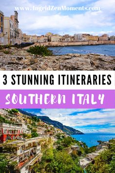 Check out these Southern Italy itinerary ideas and bucketlist destinations you won't want to miss on a Southern Italy trip. Discover the most beautiful destinations in Italy and add them to your Italy travel trip itinerary. Including places like the Amalfi Coast, Puglia, Sicily, Matera, and much more. What to see in Southern Italy, where to stay and what to do.