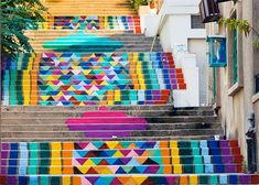 """How a little colored paint can transform neighborhoods. Click through and watch the video. """"All it takes is paint, vision, collective effort."""""""