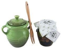 Le Creuset Olive Jar & Bella Cucina Olive Gift Set