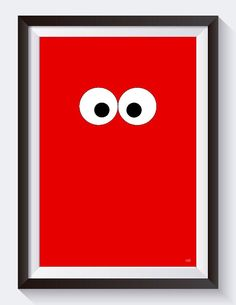 Bring the Sesame Street in your house and enjoy a colourful, stylized Elmo print.